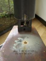 Michael Grothusen, water sculpture, Montgomery County Community College, conceptual sculpture, body measurement art,