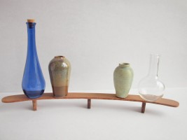 A model of an idea for a public sculpture. The vessels would be approximately 6