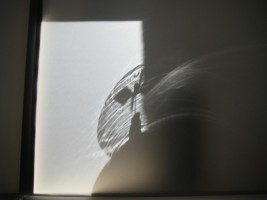 Device for Observing Sun and Shadow, wood, translucent paper and radiometers. As