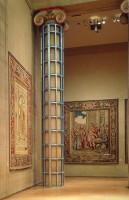 "Crate for the Philadelphia Museum of Art, aluminum, foam, 34'h by 40""diameter-in"