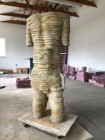 figurative sculpture, cement, Michael Grothusen