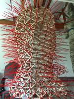 head sculpture, zip tie sculpture, Michael Grothusen