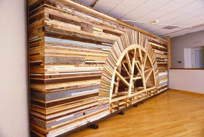 Installation at Fleisher Art Memorial in Philadelphia, PA. Made from materials g