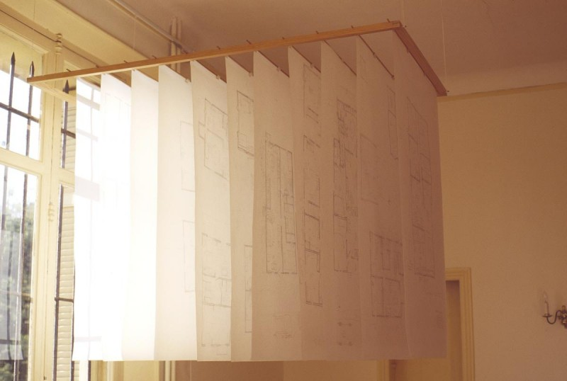 Michael Grothusen, memory sculpture, space and memory, plan drawings of houses from memory