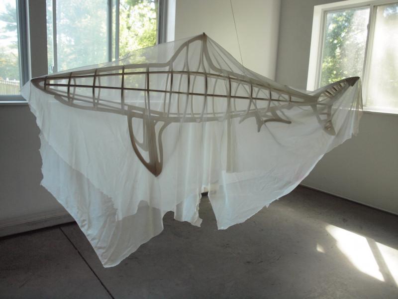 Michael Grothusen, shark sculpture