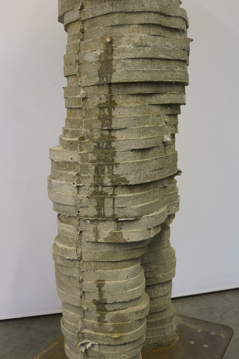 cement sculpture, contemporary figurative sculpture, Michael Grothusen