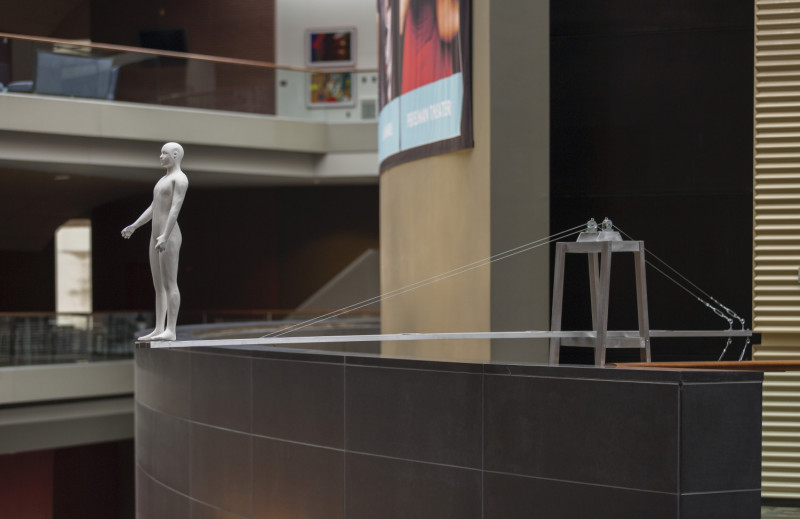 Grothusen Michael sculpture, Kimmel Center