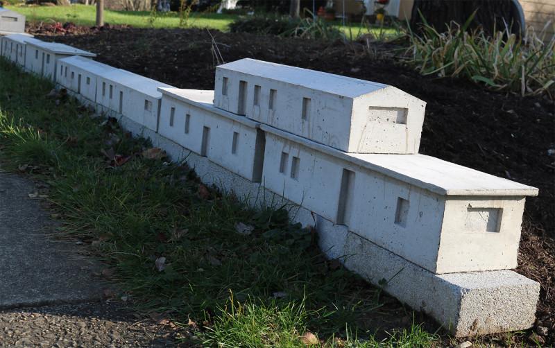 trailer park, Michael Grothusen, garden sculpture, cast cement