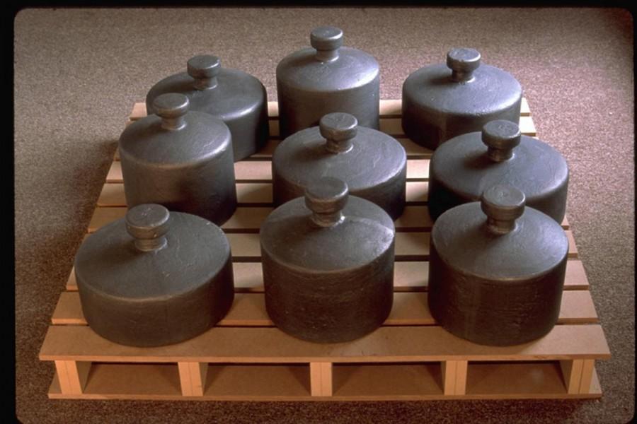 Michael Grothusen, sculpture, lovers, by weight, from memory. conceptual sculpture, cast iron sculpture